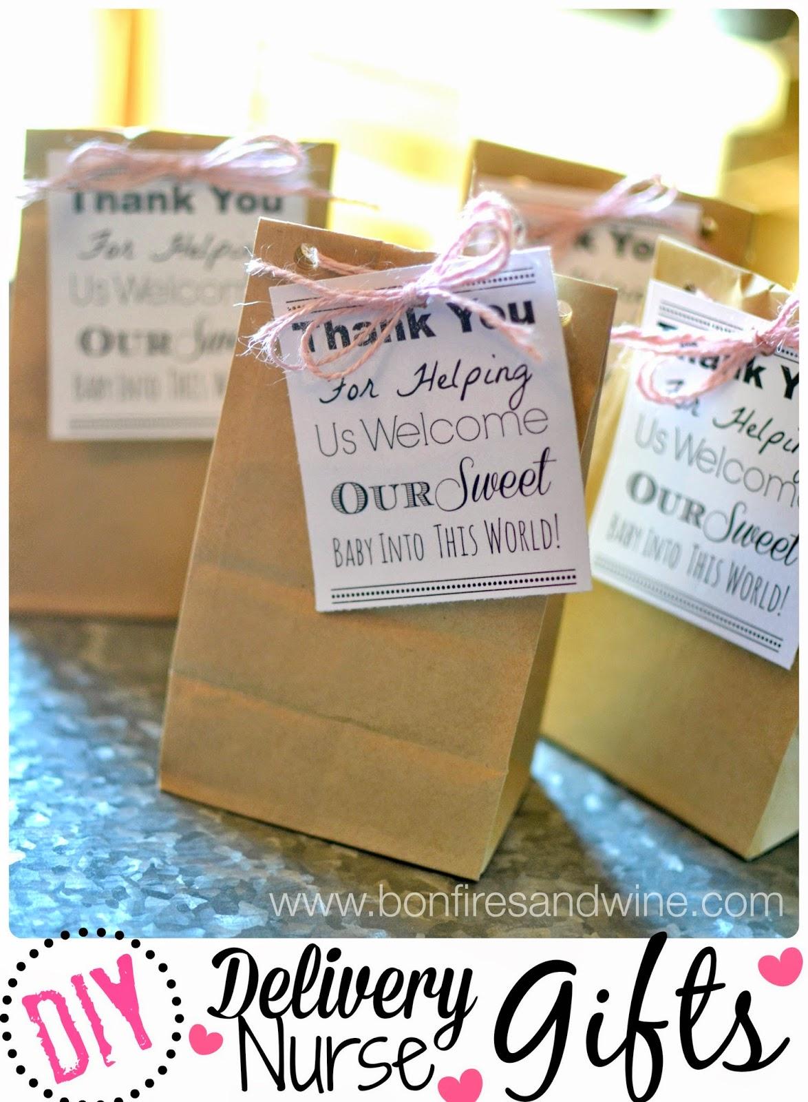 Bonfires And Wine Diy Labor Delivery Nurse Gifts
