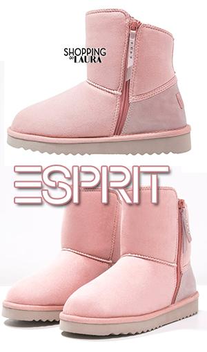 Boots et bottines roses femme : Esprit