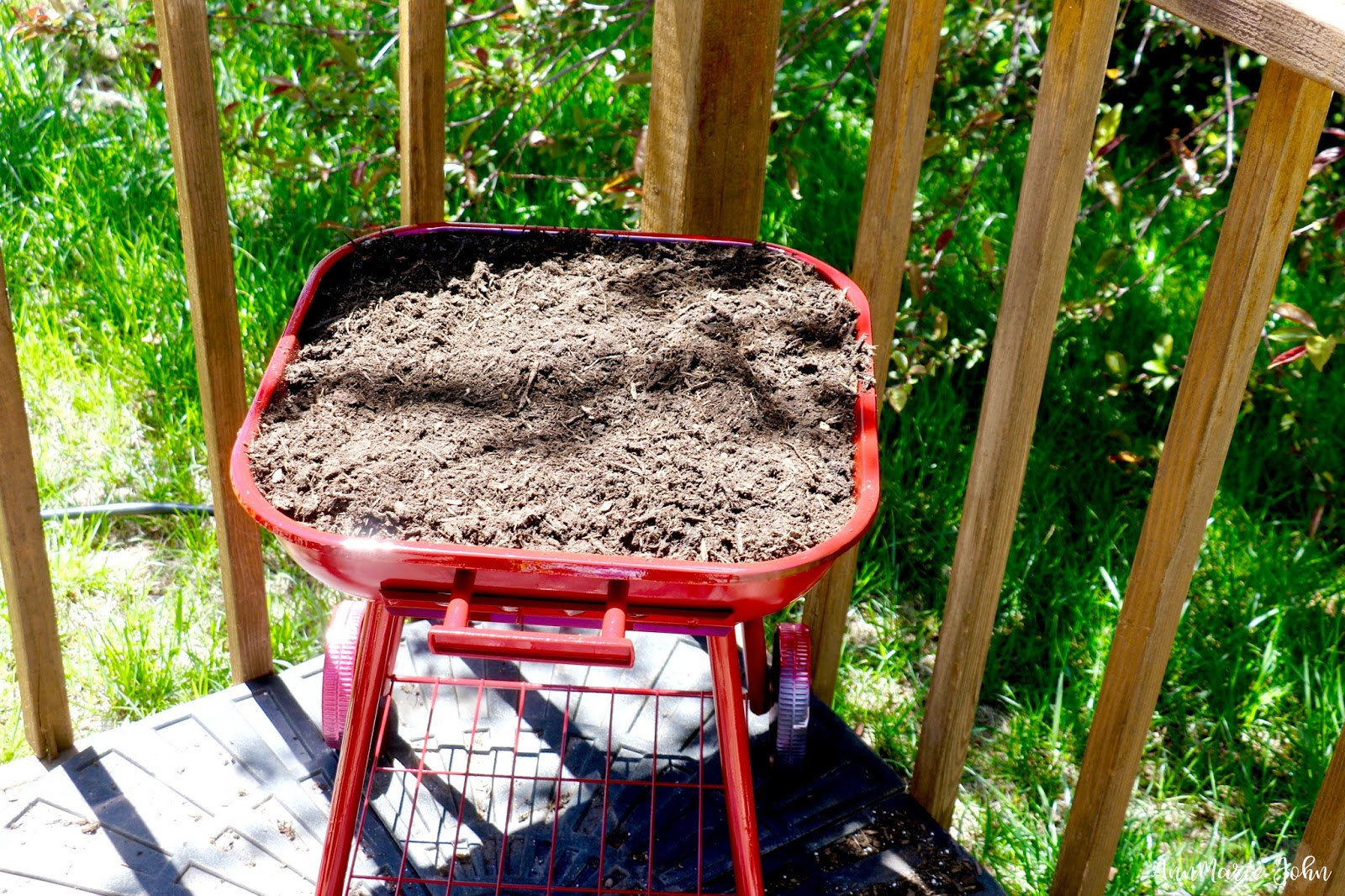 turn grill into flowerbed