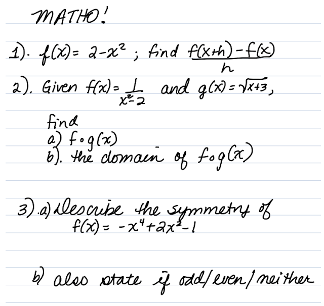 Math = Love: Guest Post: MATHO