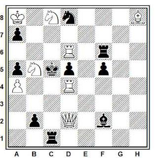 Problema ejercicio de ajedrez número 832: Mate en 2 de Efrén Petite (Israel Ring Tourney, 1992)