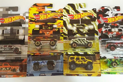 Hot Wheels Camoulfage Series 2017