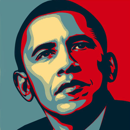 Obama art by Shepard Fairey