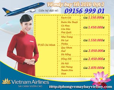 Vé máy bay Tết 2016 đi Quy Nhơn