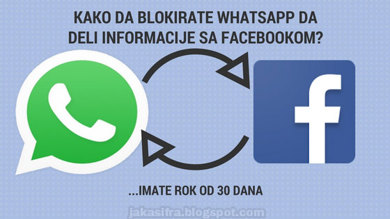 Kako da blokirate WhatsApp da deli informacije sa Facebookom?