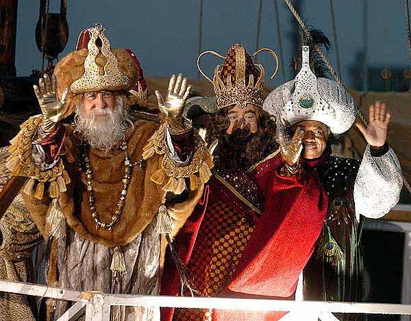 Alentours Barcelone Le dfil des trois Rois Mages  Barcelone