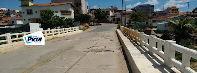Piso da ponte na saída de Picuí para Nova Palmeira esperando que o pior aconteça