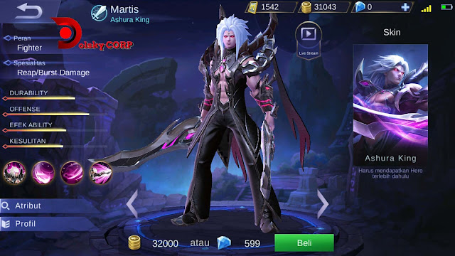 Mobile Legends : Hero Martis ( Ashura King ) High Damage Builds Set up Gear