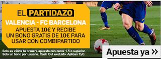 betfair promocion Valencia vs Barcelona 7 octubre