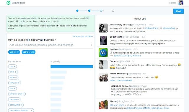 Twitter-dashboard-palabra-clave