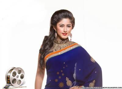 Safa Kabir Wearing Sharee