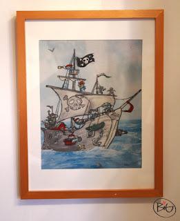 barnrum pirater flytvirke koja skattkarta guld