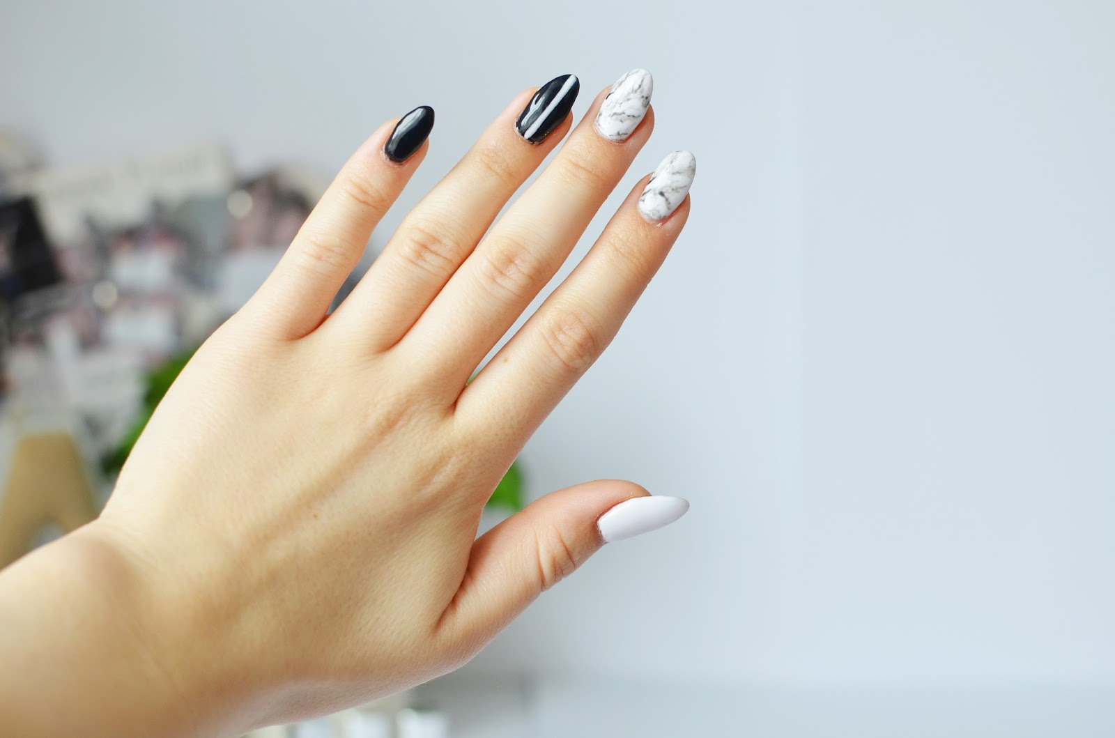 Manicure Hybrydowy Pierwsze Wrażenie Paznokcie Marmurkowe Em