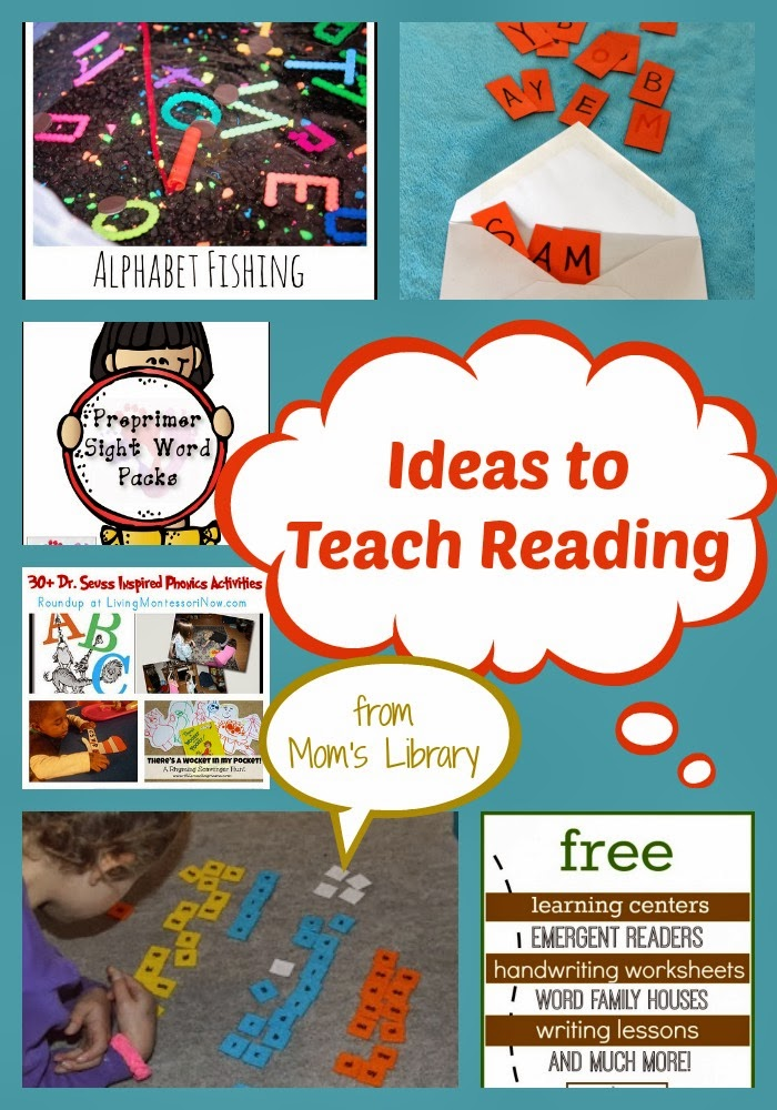Ideas to Teach Reading at Mom's Library