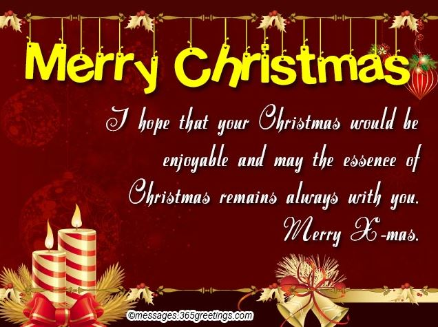 Christmas Greetings Sayings for Friends