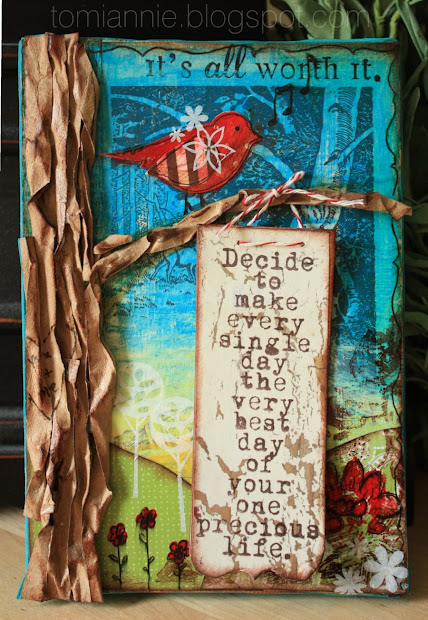 "Squeeze In ""make Day "" - Mixed Media Canvas Growing Unity"