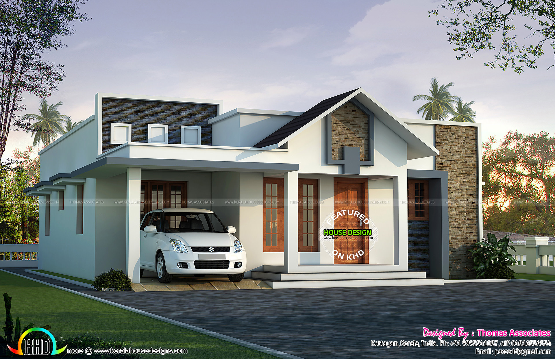 1800 sq ft 4 bed single floor villa kerala home design for 1800 sq ft indian house plans