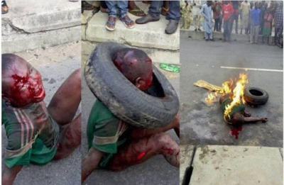 """It did not happen in Lagos"" Police denies thief was burnt to death at Alafia"