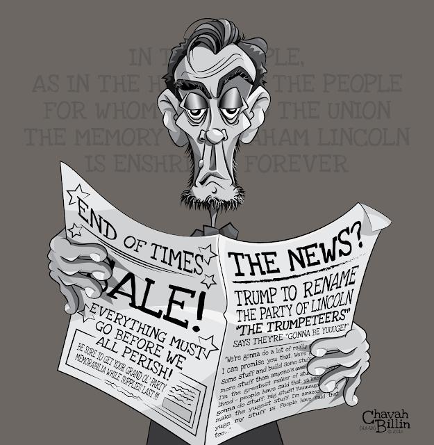 Trump GOP Party of Lincoln Editorial Cartoon