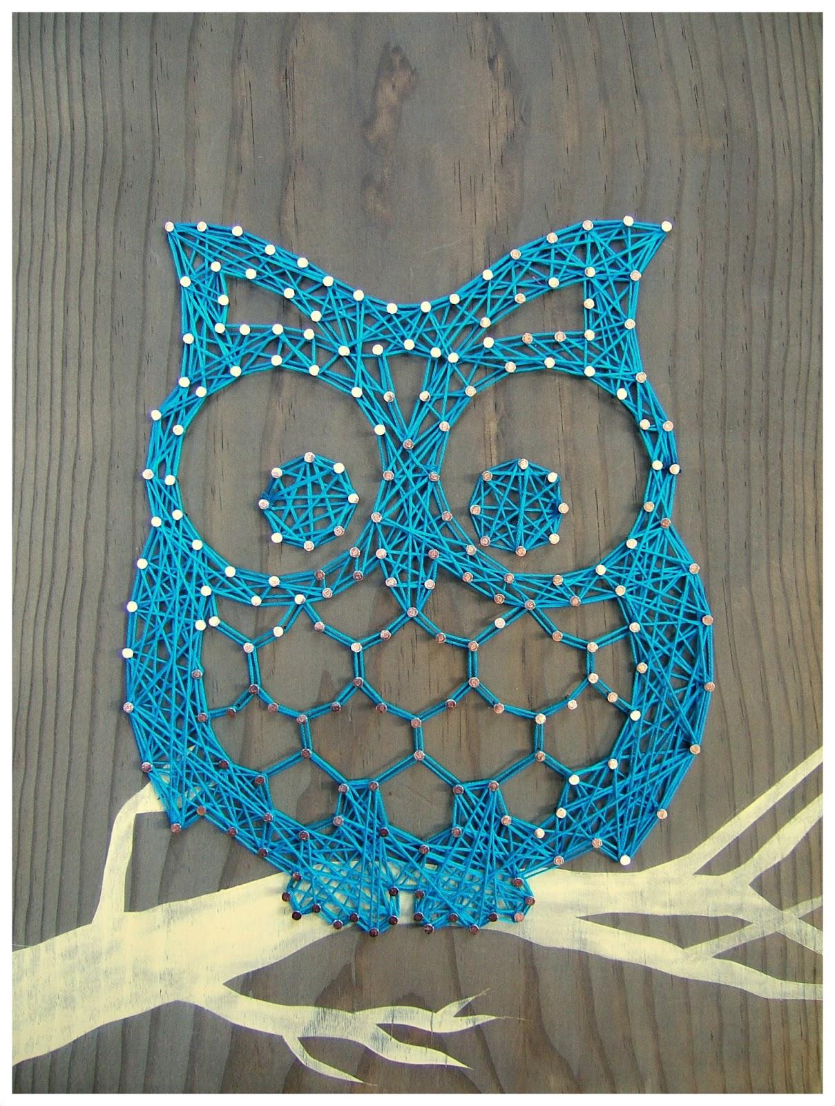 string art otis the owl. Black Bedroom Furniture Sets. Home Design Ideas