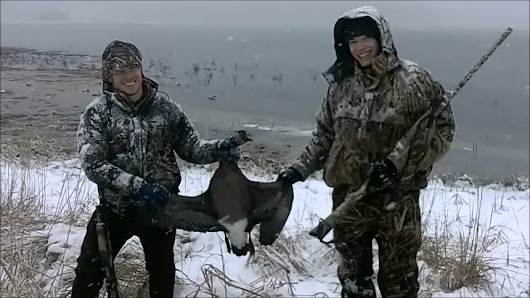 Snowy Vancouver Goose Hunt
