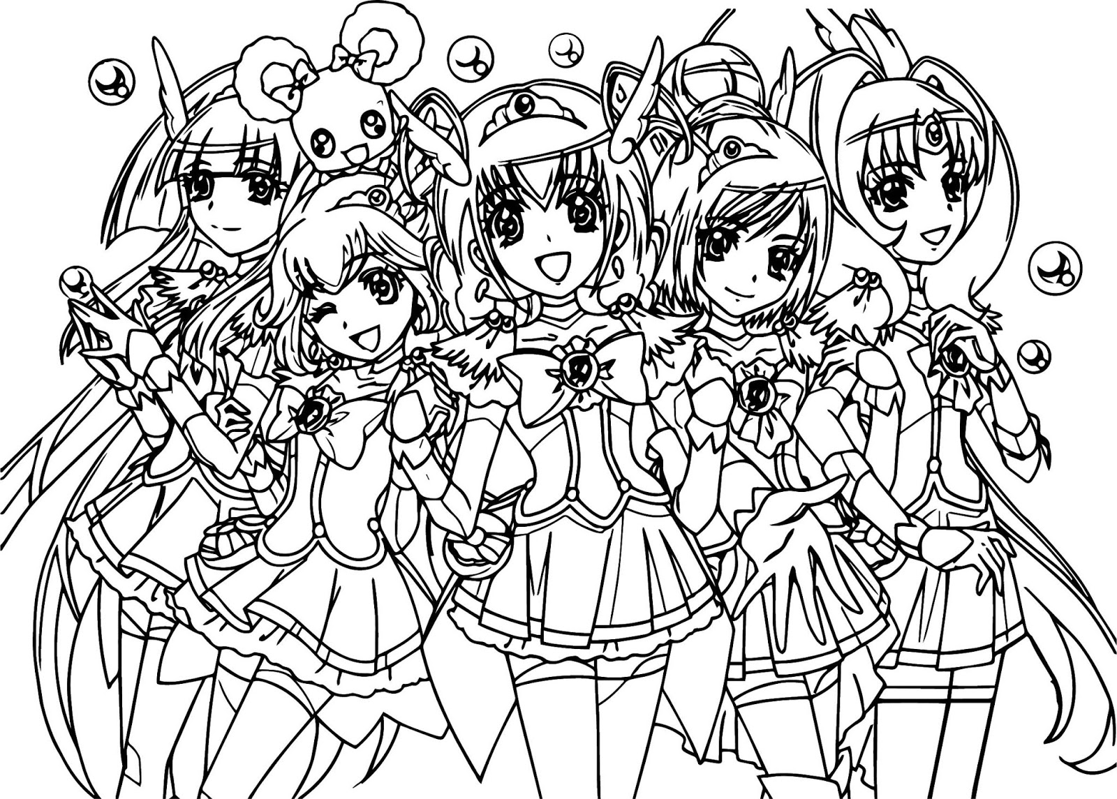 Click to see printable version of Glitter Force Coloring page