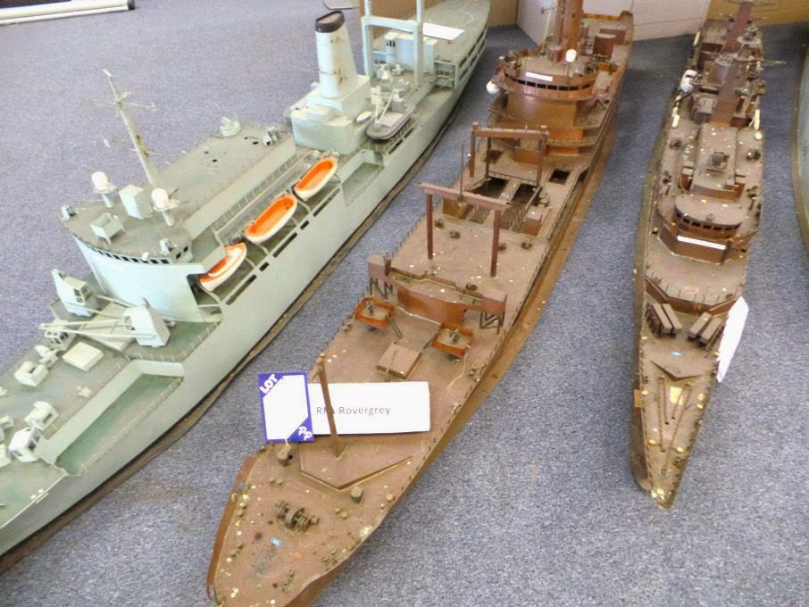 qinetiq online auction 1:50 scale models of naval ships