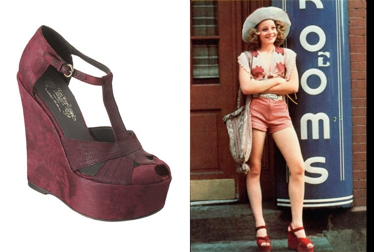 """Favori Dolly Rocker Girl: Inspired By  Jodie Foster's """"Taxi Driver"""" Wedges MI71"""