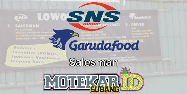 Info Loker Salesman Garudafood PT. Sinar Niaga Sejahtera Subang Mei 2019