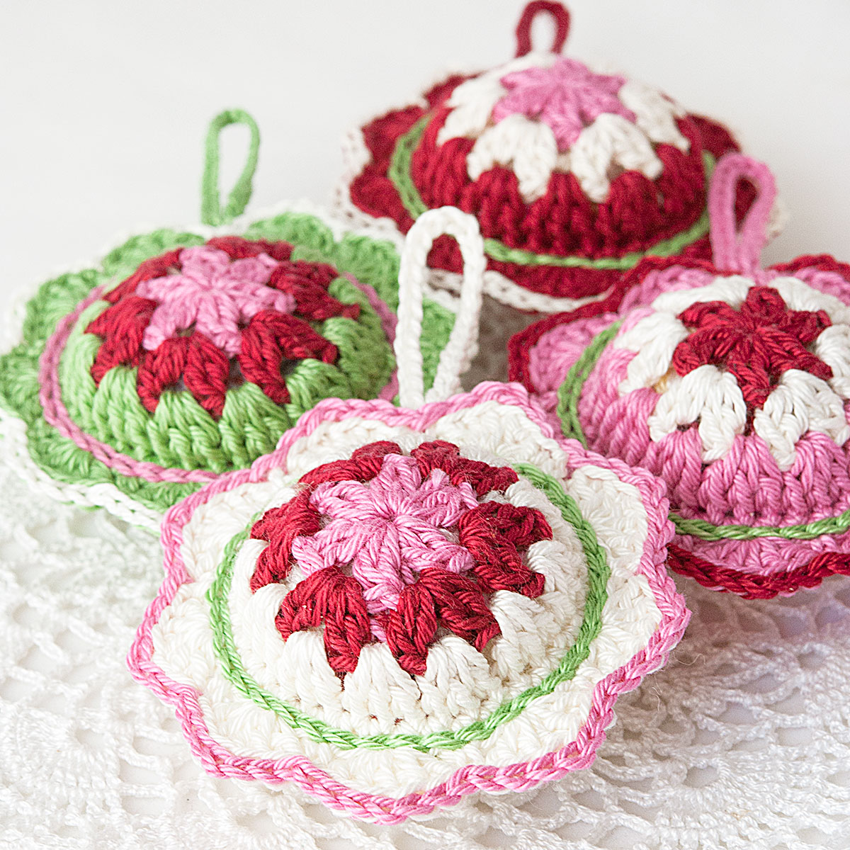 Anabelia craft design: New Christmas crochet ornaments ...