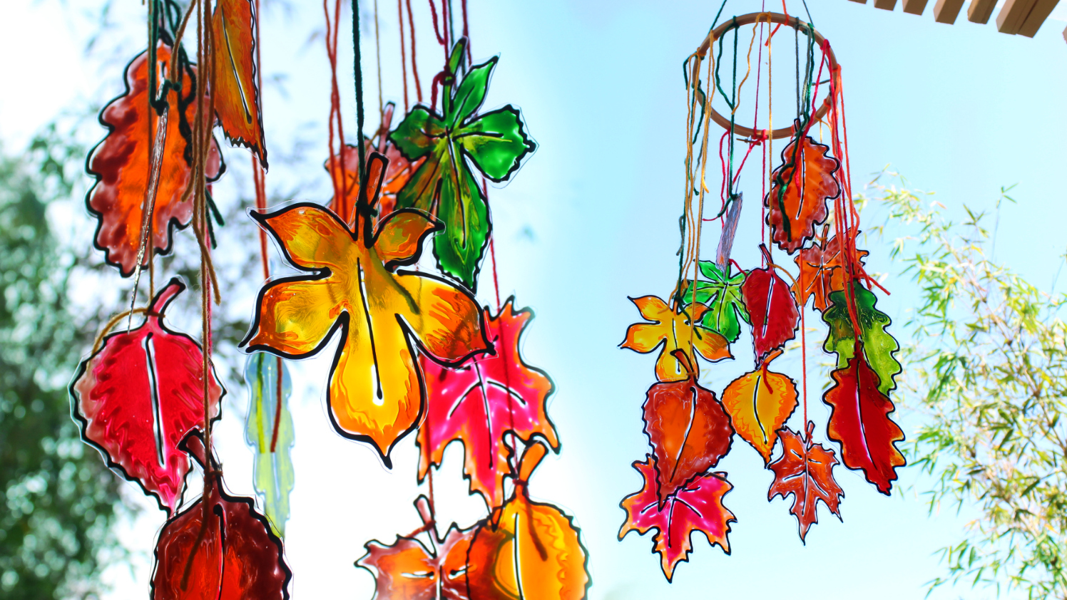 mark montano leaf template for stained glass fall leaves