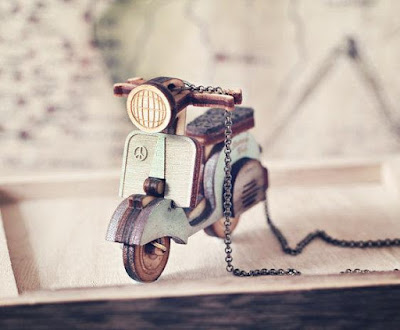 Mini Vespa Necklace