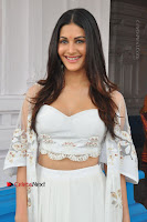 Telugu Actress Amyra Dastur Stills in White Skirt and Blouse at Anandi Indira Production LLP Production no 1 Opening  0041.JPG