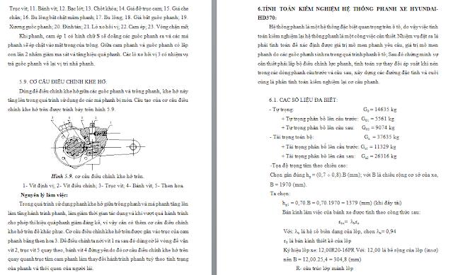 tính toán hệ thống phanh xe huyndai HD370