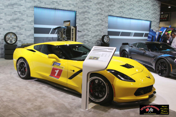 Chevrolet Corvette Stingray on display at the 2016 SEMA event.