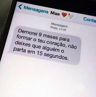 mensagem da mãe