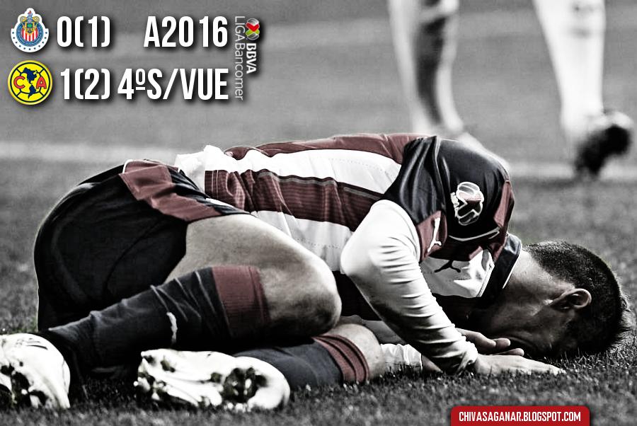Liga MX : CD Guadalajara 0-1 CF América - Apertura 2016 - Cuartos - Vuelta.
