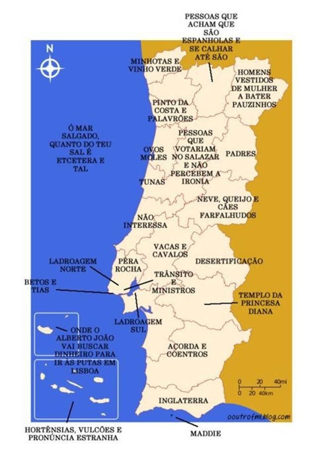 mapa das praias fluviais em portugal Devaneios a Oriente: Mapa de Portugal. numa perspectiva  mapa das praias fluviais em portugal