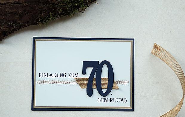 bastelritter: einladung zum 70. geburtstag, Einladung