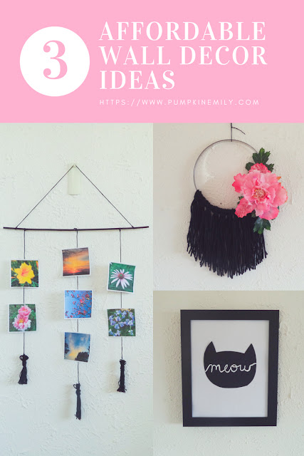 3 Cute Affordable DIY Wall Decor Ideas