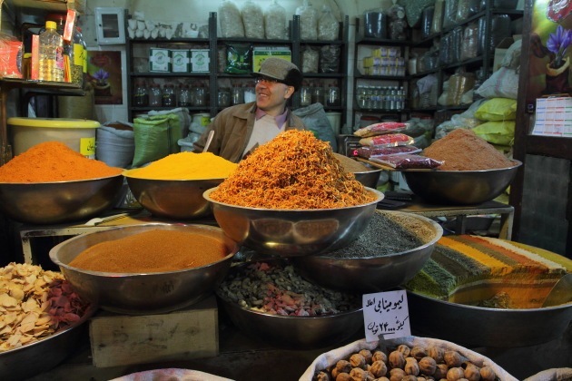 At the spice market of Isfahan, Iran