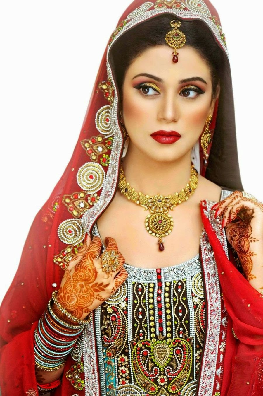 pakistani bridal makeup pictures 2015 - latest bridal
