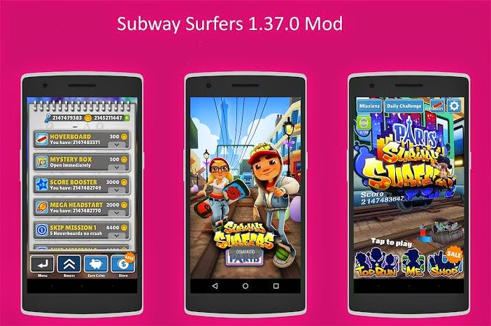 Download Subway Surfers v1.37.0 France Paris 3 Mod Apk (Unlocked/Unlimited Keys/Coins)