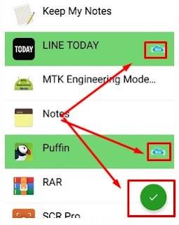 Memasukan aplikasi ke dalam Greenify Mod Apk