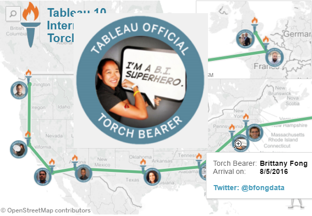 Making the Tableau 10 Torch Relay Viz | Vizible Difference