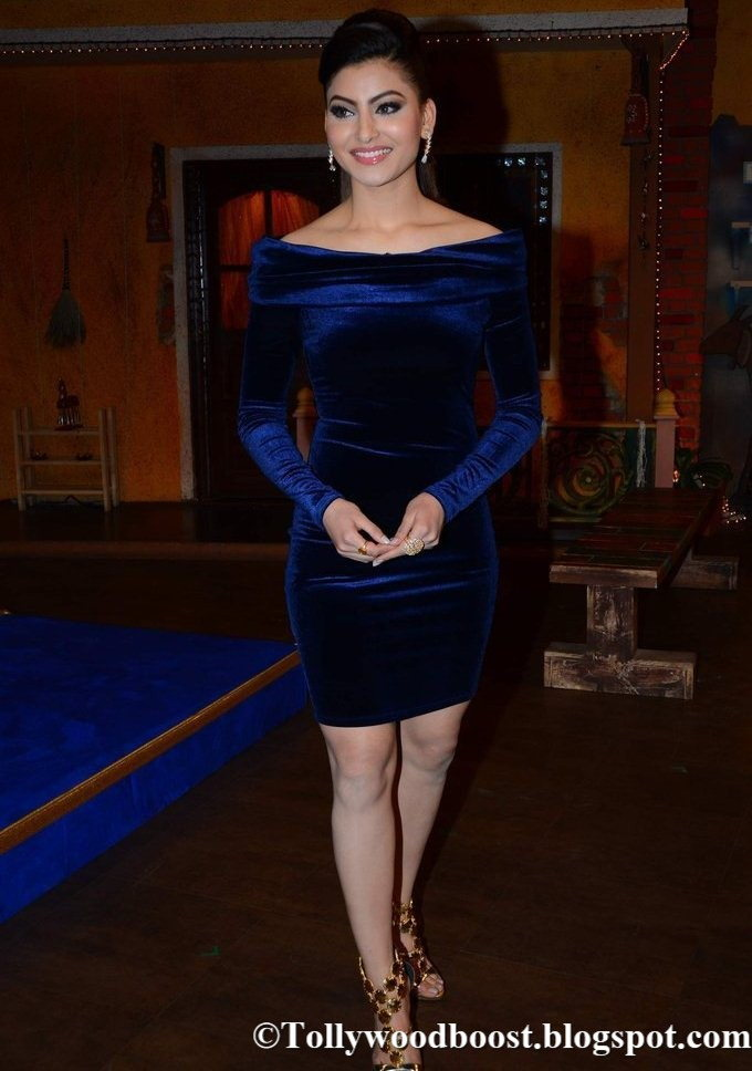 Indian Actress Urvashi Rautela Photos In Blue Dress