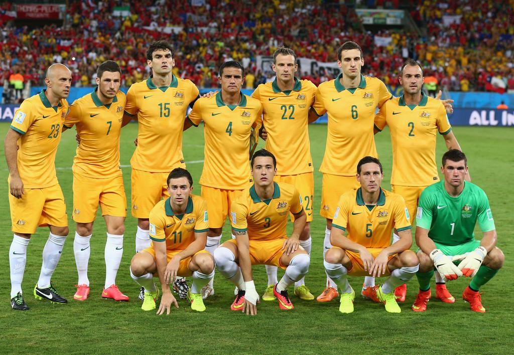 Formación de Australia ante Chile, Copa del Mundo Brasil 2014, 13 de junio