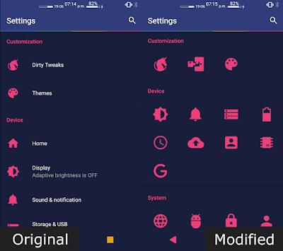 Tampilan Aplikasi Settings Editor Pro