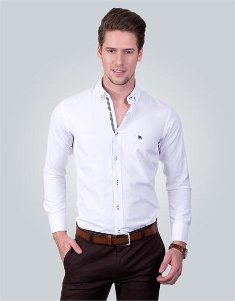 Spor gömlek beyaz renk