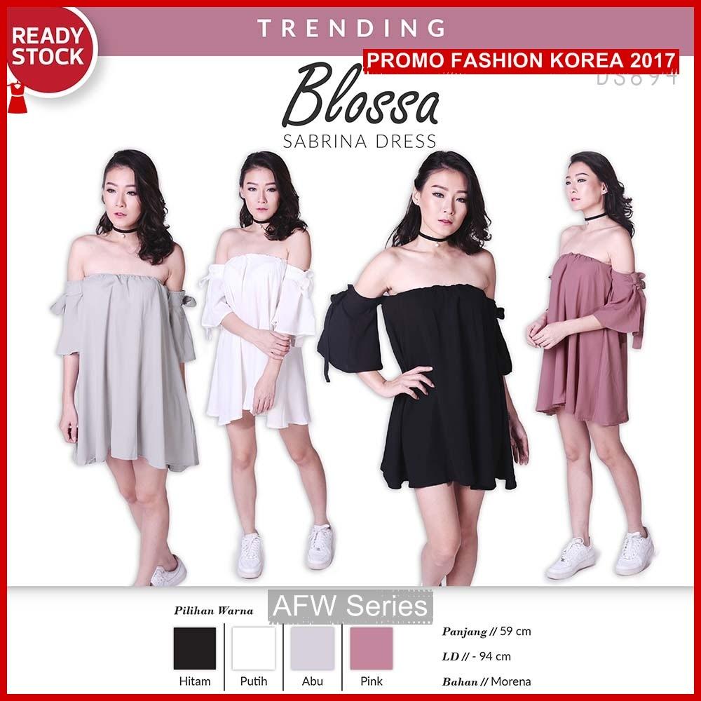 BAMFGW026 Blossa Dress Pakaian Wanita PROMO